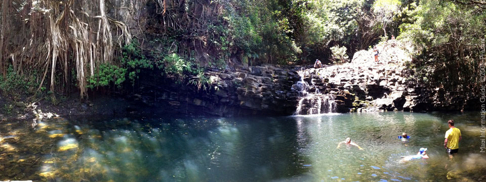 waterfall hana