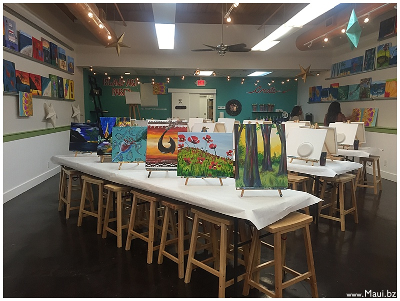 Island Art Party- Maui December Events