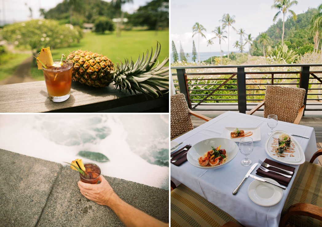 drinks and food in Hana