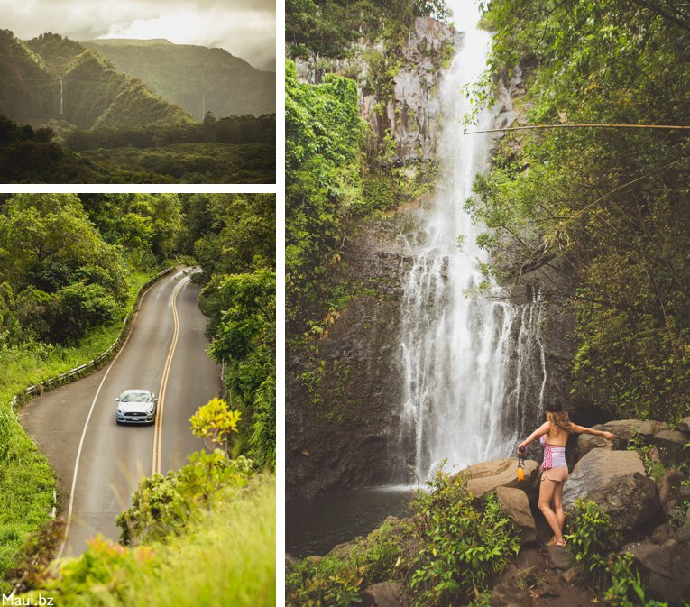 Road to Hana waterfalls