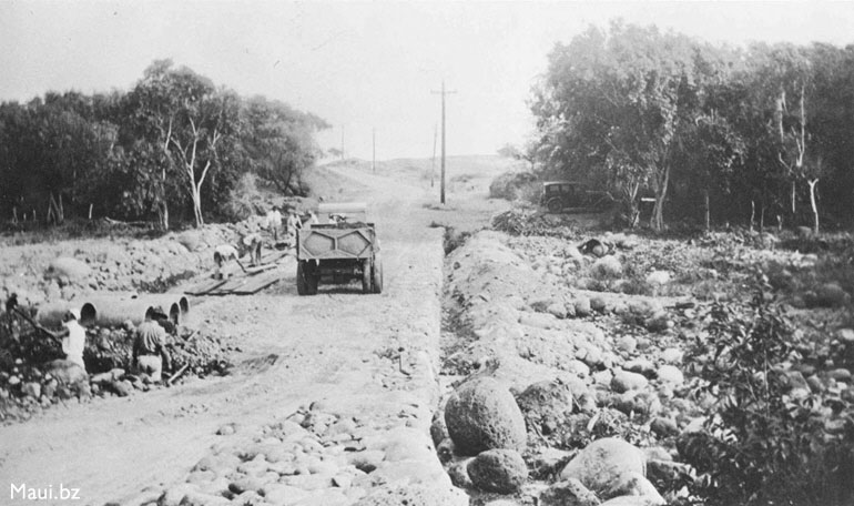 Hana Highway Contruction 1920