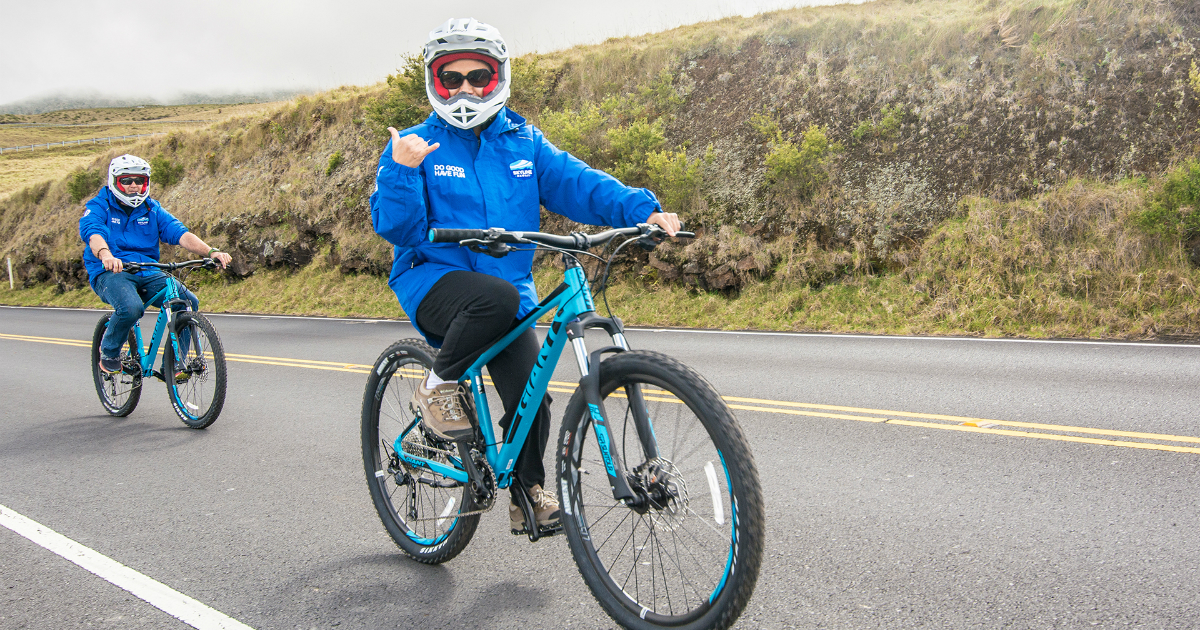 Biking from Haleakala's Summit