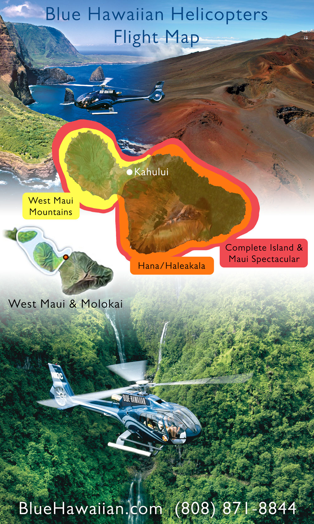 maui helicopter map