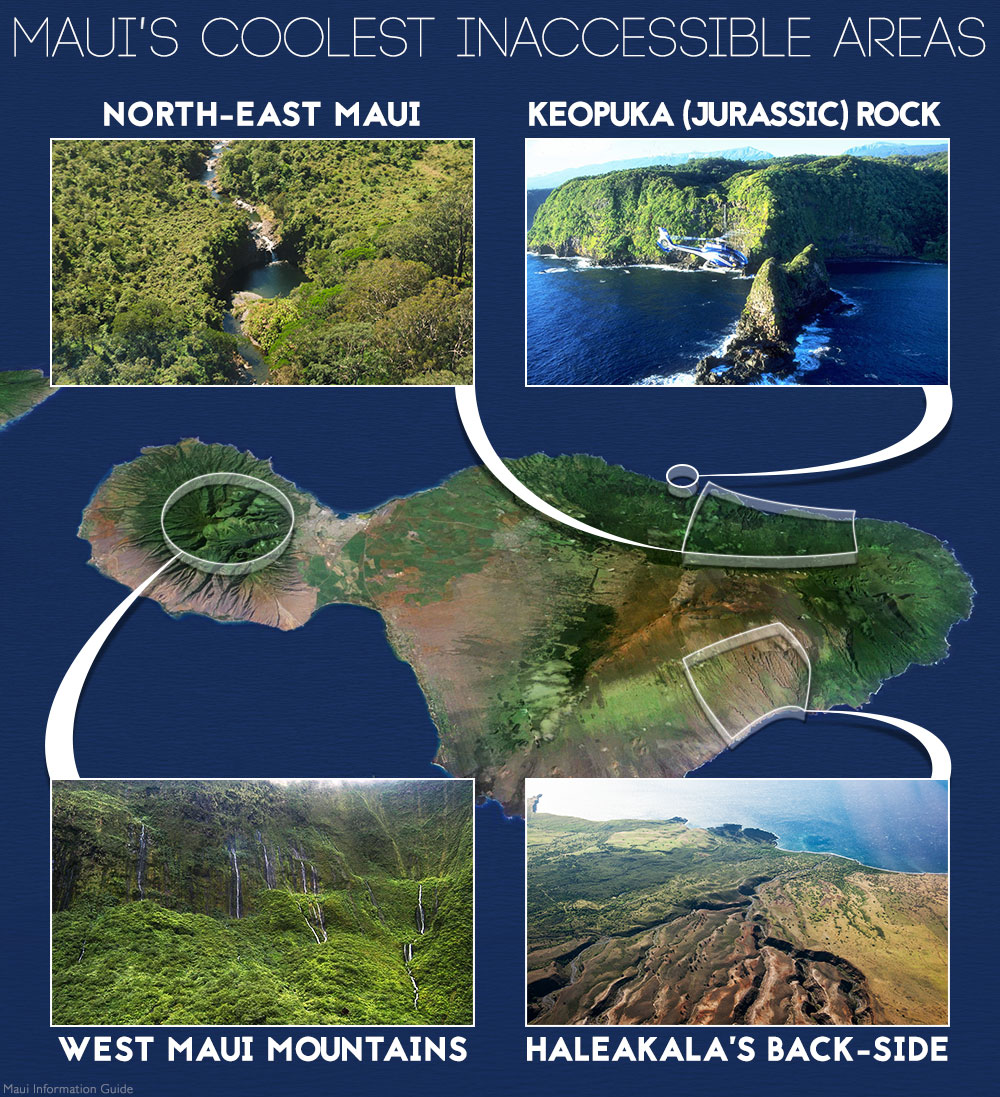 maui's coolest inaccessible areas infographic