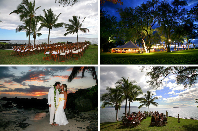 The best maui wedding locations in hawaii beaches private estates south maui makena area large lawn good for tents and large reception some parking beautiful sunsets barely any beach booked through wedding planners junglespirit