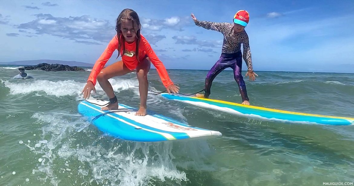 Maui surf lessons in Kihei