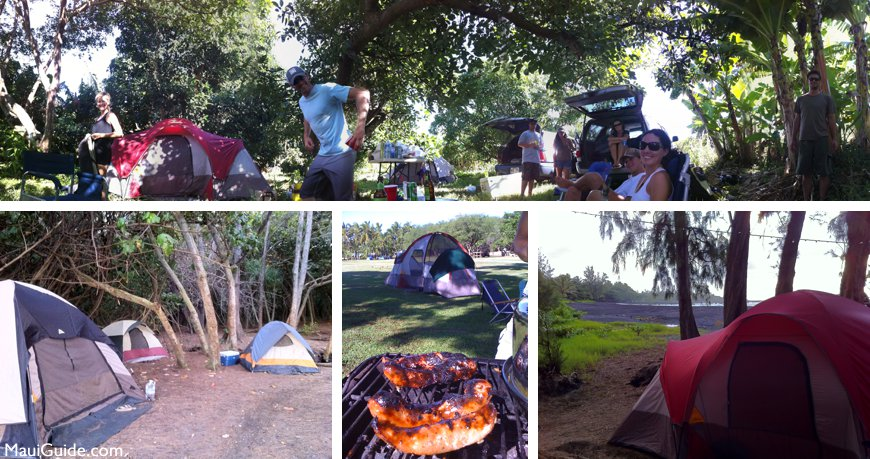 Camping in Maui Hawaii