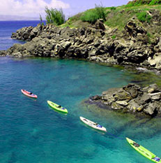Kayak hiking Maui