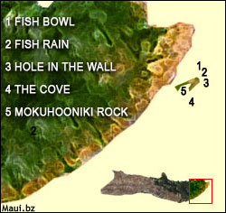 Molokai scuba map