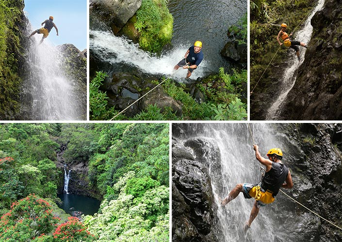 Hiking and Rappeling in maui