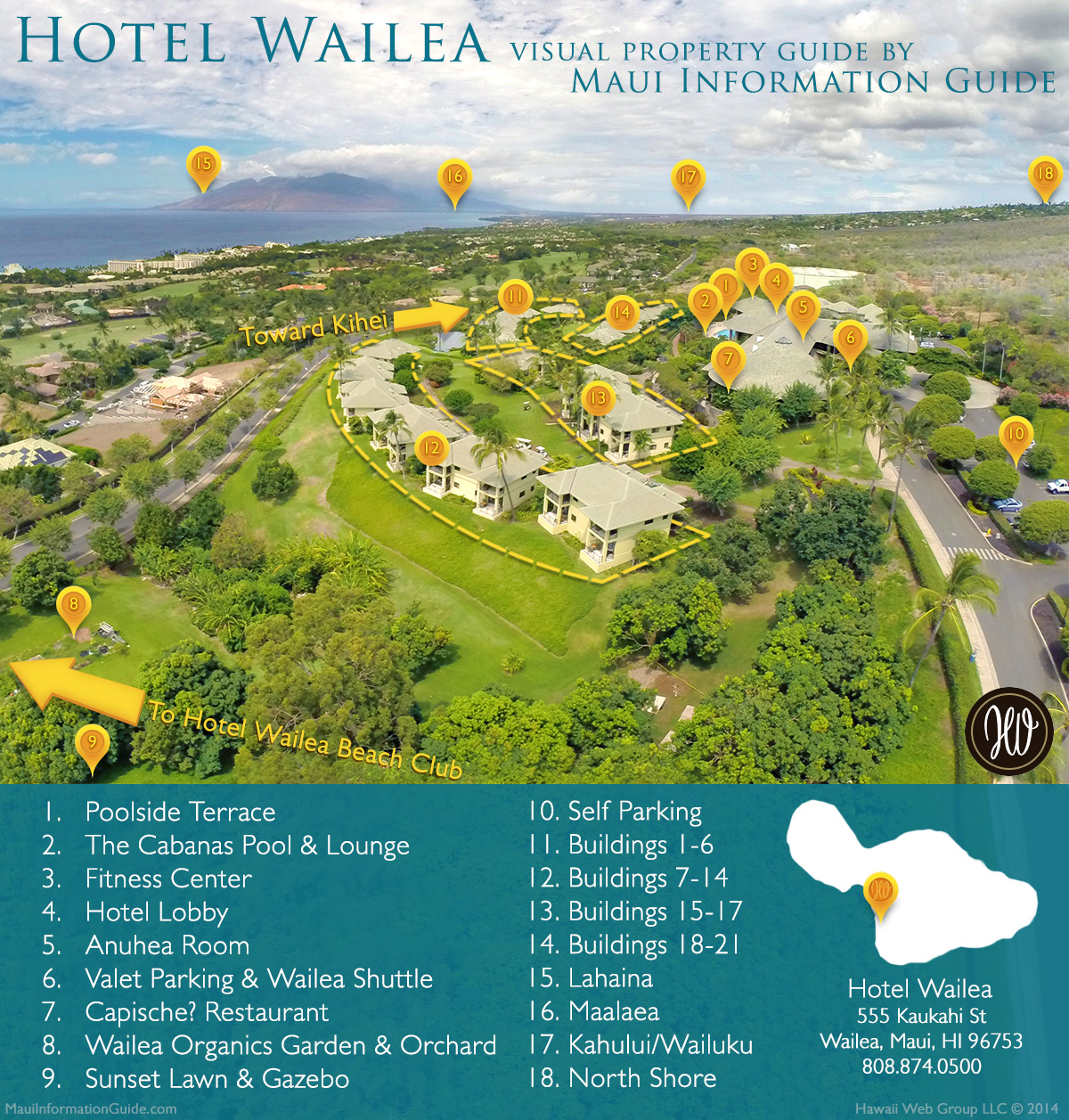 Hotel Wailea Visual Guide